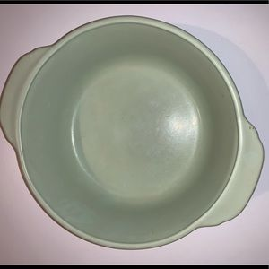 Fire king bowl lusterware green and peach